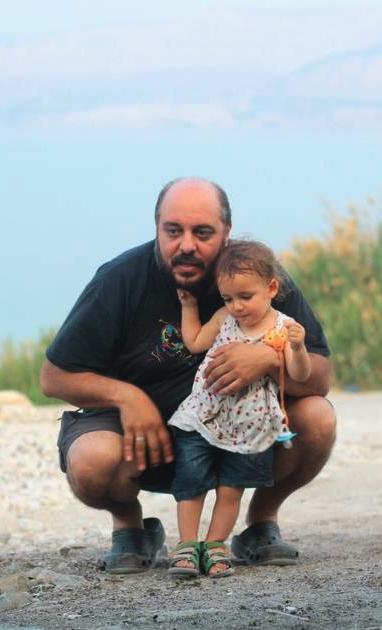 מעיין ואבא, ים המלח, פסח 2013.